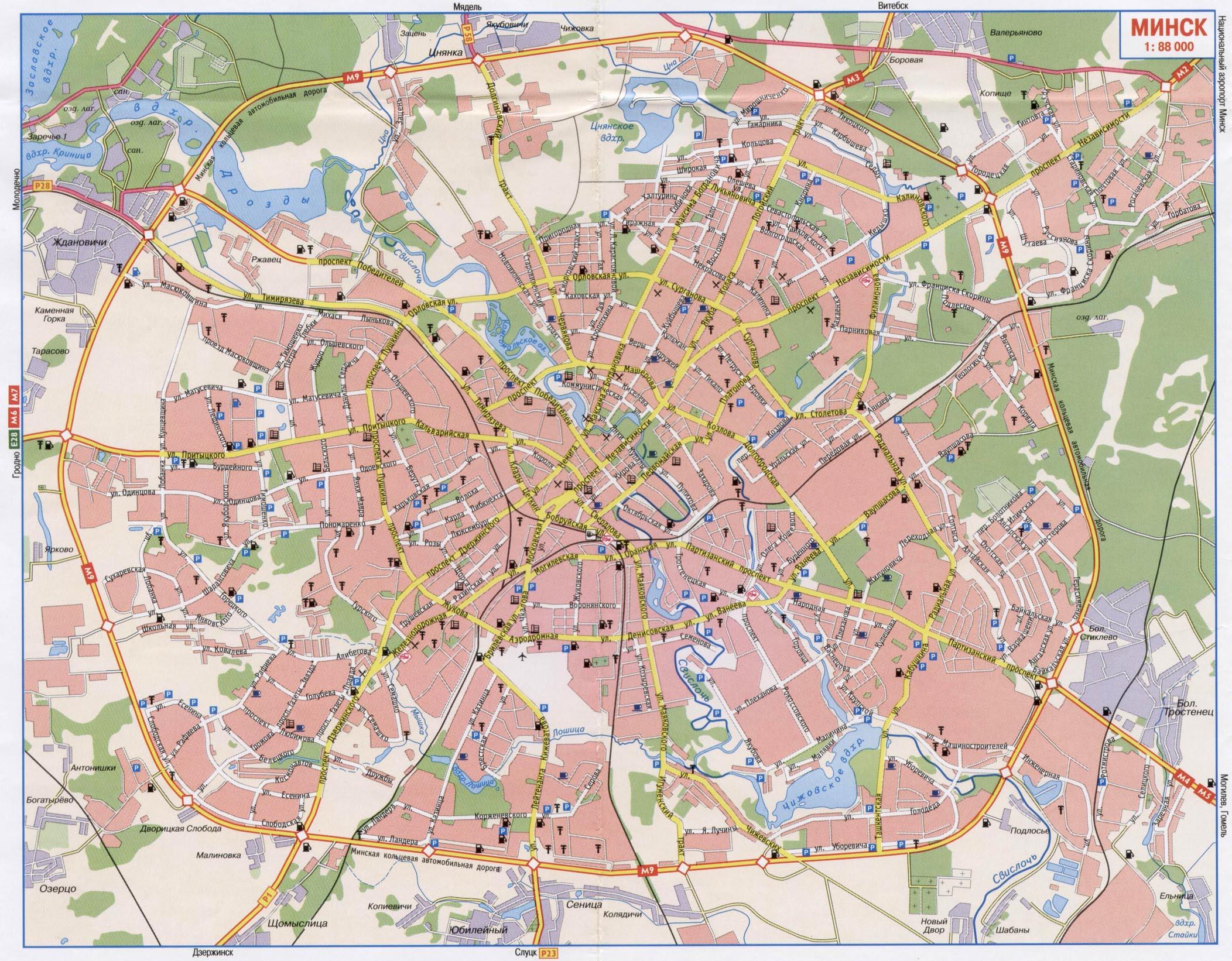 Минск карта минска карта