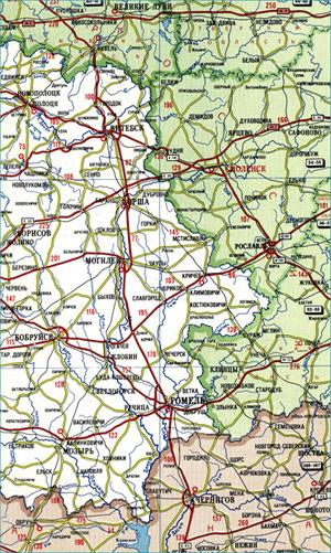 Атлас автомобильных дорог Белоруссии.  Подробная карта автодорог Белоруссии.  2011 - 2013 Raster Maps...