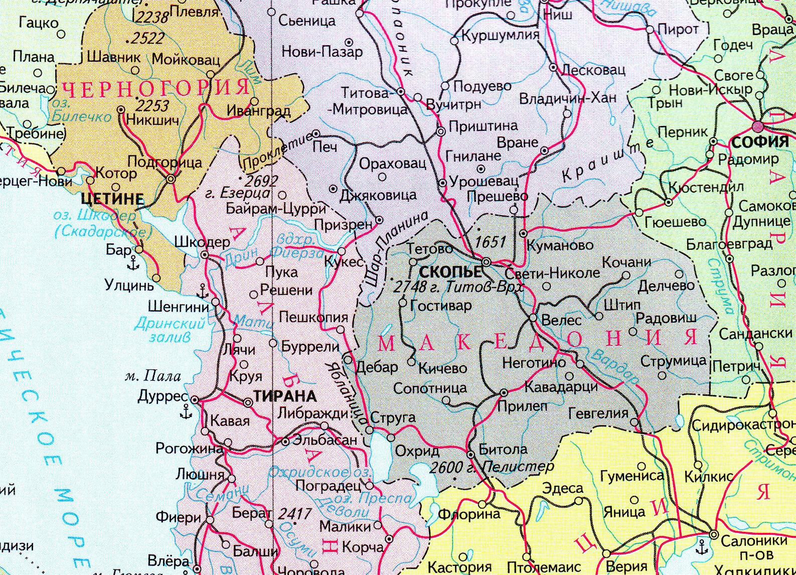 Соседние страны на политической карте