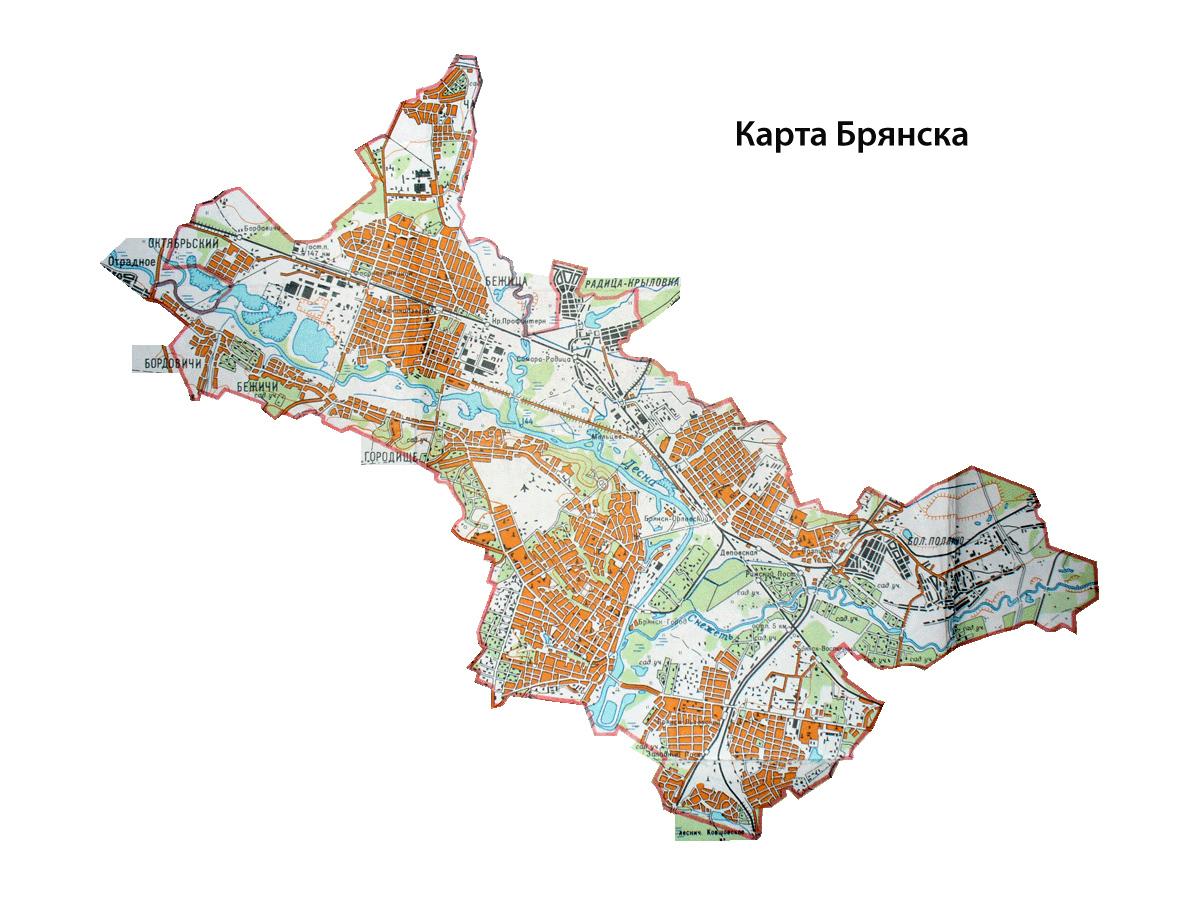 Для печати карту брянска