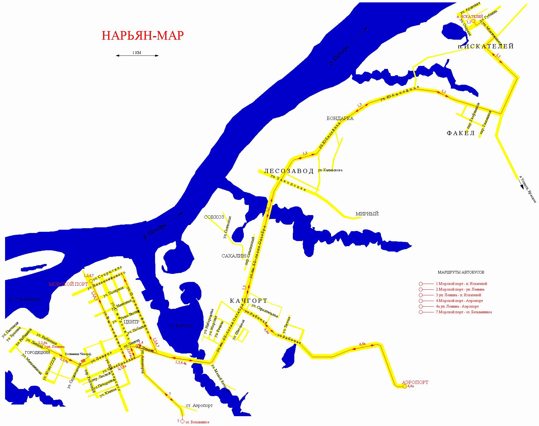 Обзорная схема дороги
