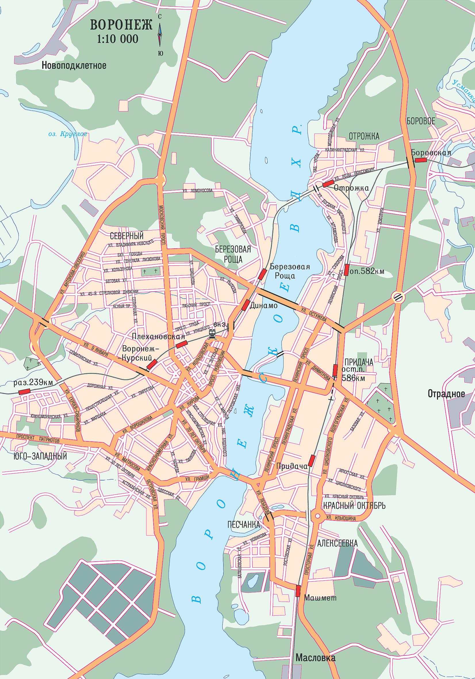 Карта автомобильных дорог Воронежа. Подробная карта ...: http://www.raster-maps.com/map-of-russia-137/