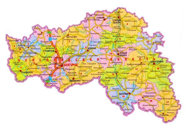 Вологодская область - карта