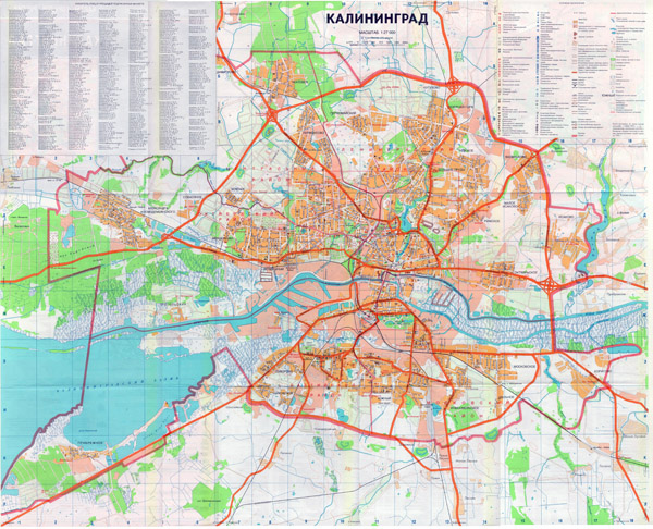 Карта Г Калининград