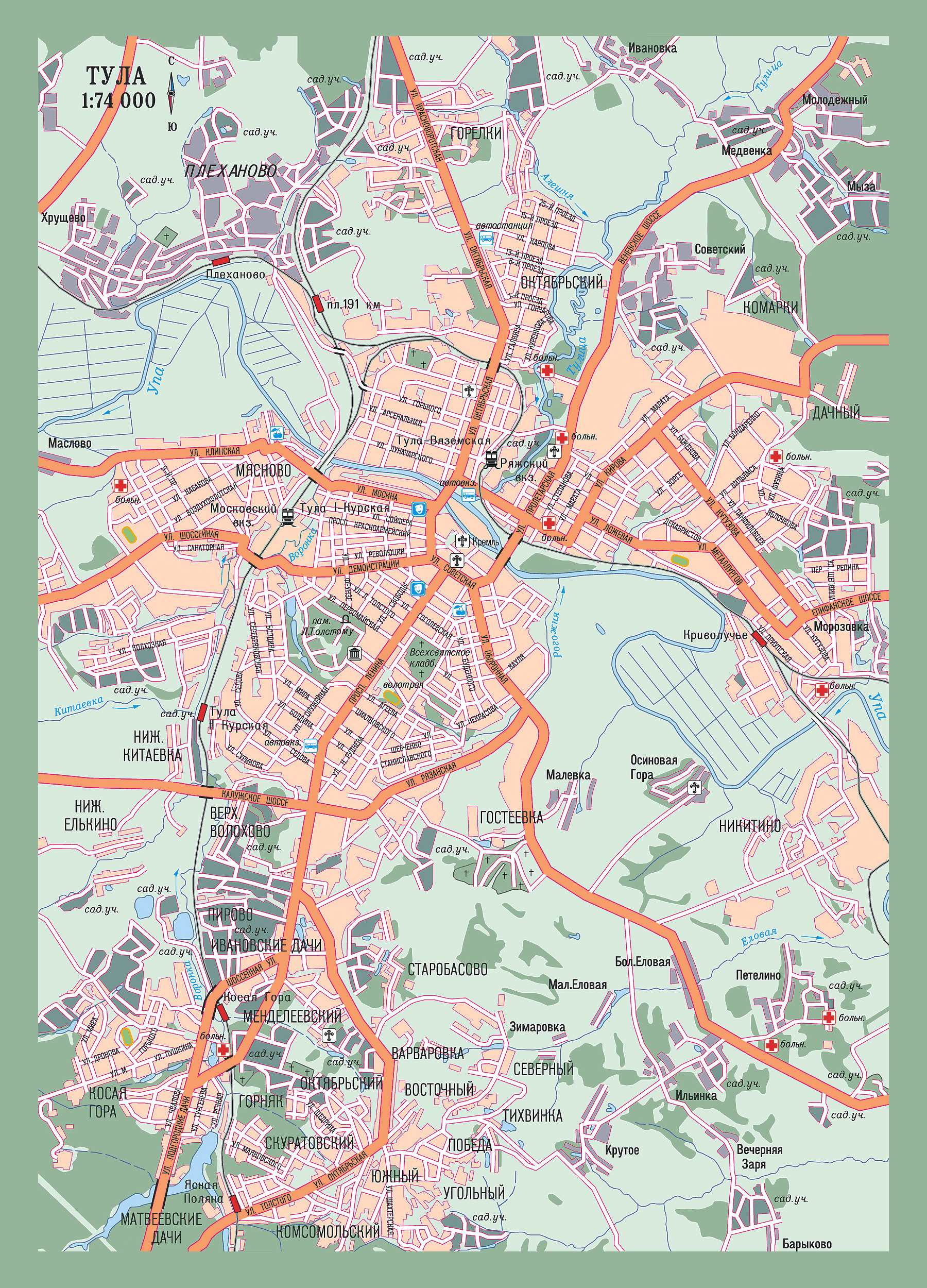 Street map Tula