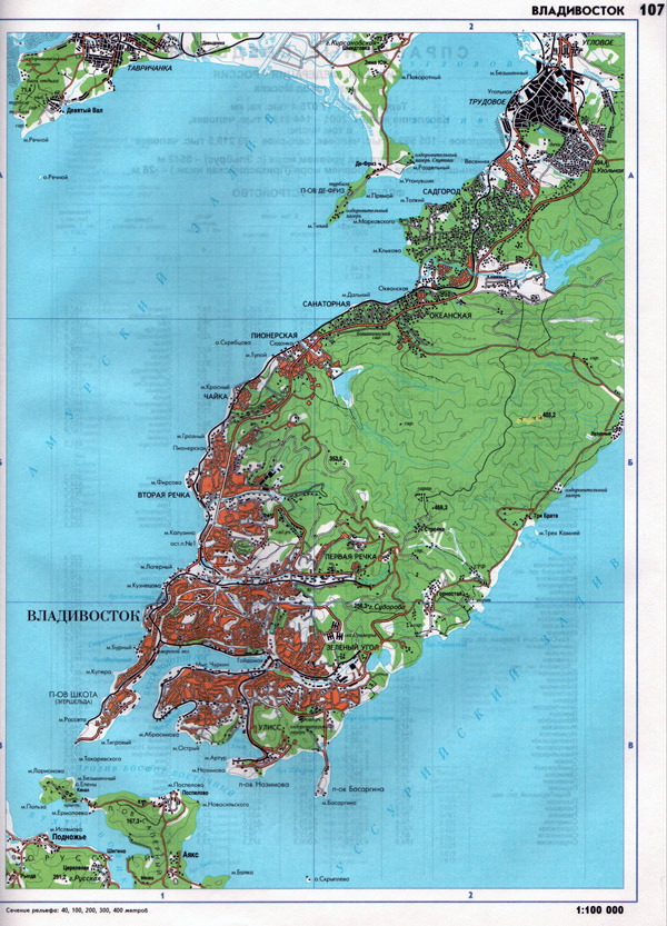 Карта Владивостока Подробная