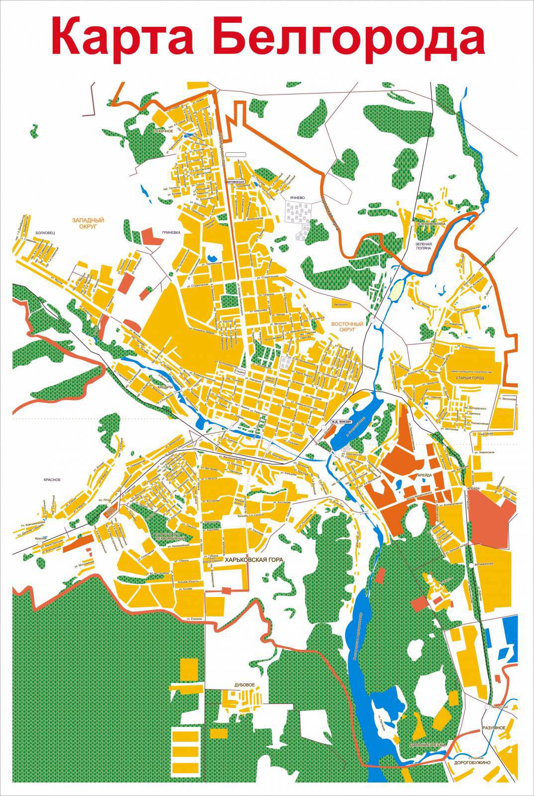 Карта Белгорода   Raster Maps   Карты всего мира в одном месте: http://www.raster-maps.com/map-of-russia-89/