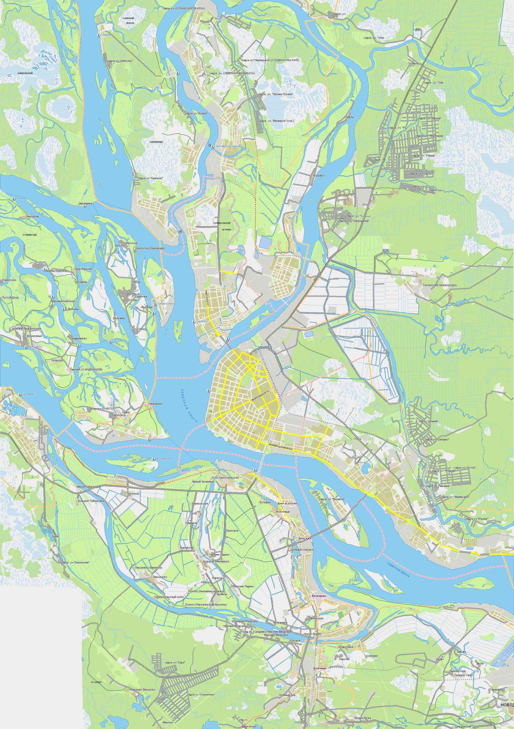 Карта схема улиц автомобильная карта