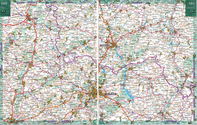Карта дорог — Белгородская область. Подробная карта ...: http://www.raster-maps.com/map-of-russia-78/