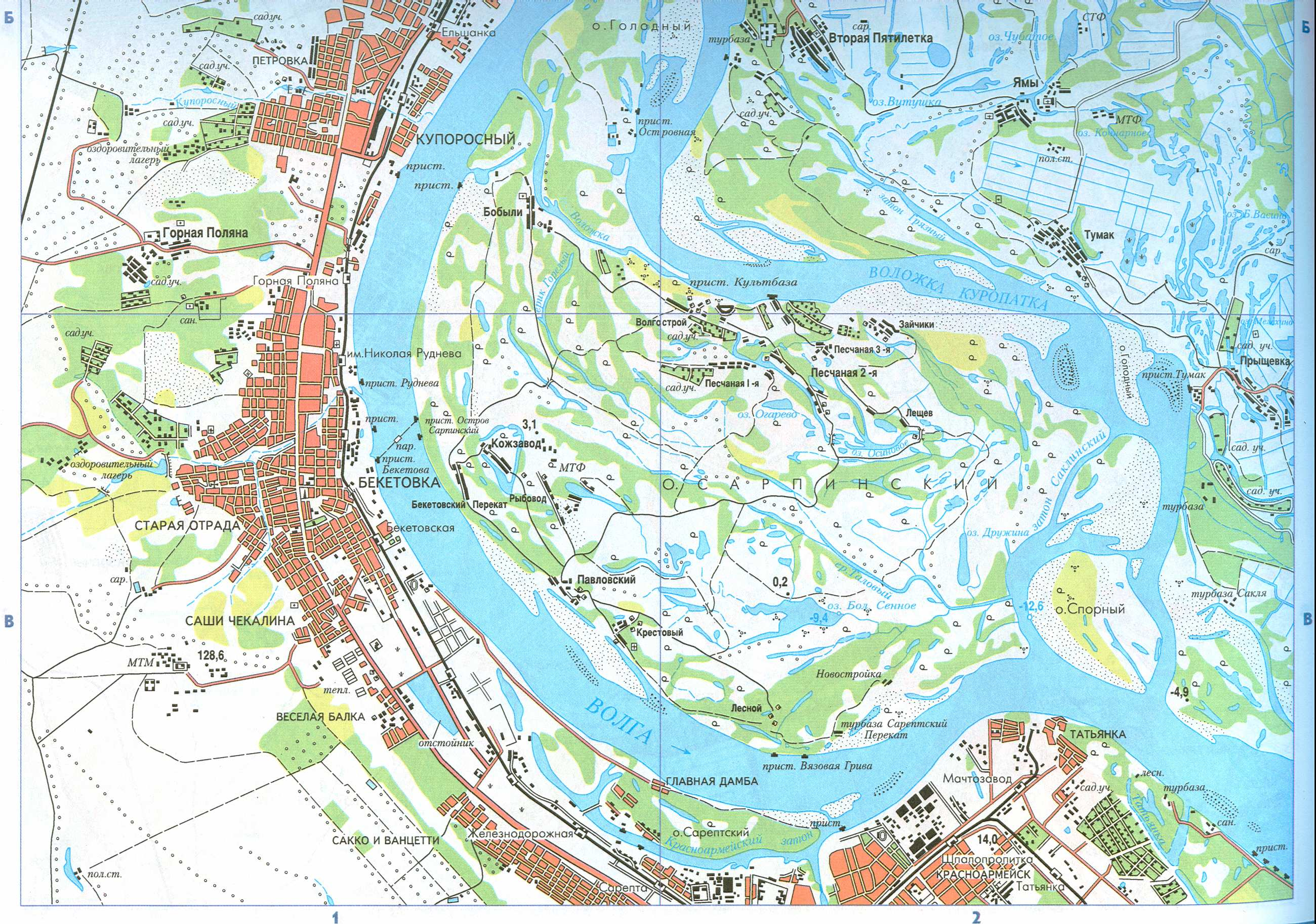 Карта схема волгоград
