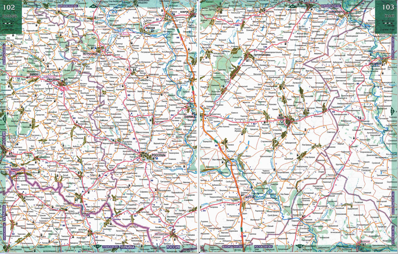 MagMaps.Ru - Карта автомобильных дорог Воронежской области