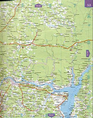 Карта Ивановской области 1см