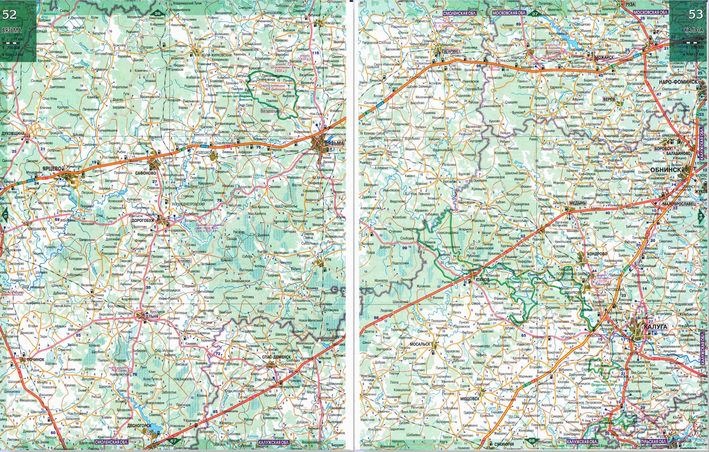 Физическая карта калужской области