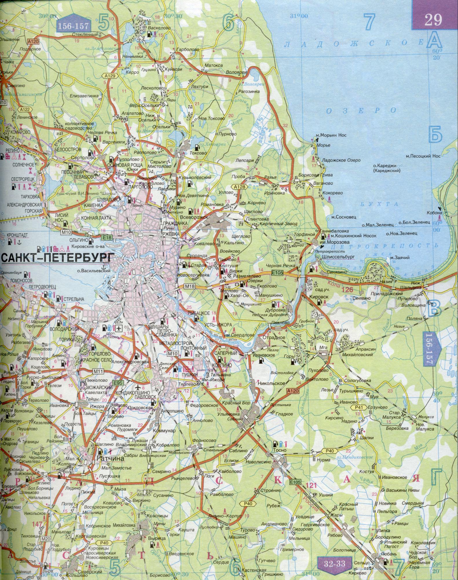 Схема железных дорог ленинградской области