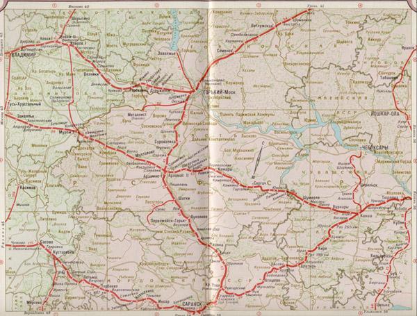 Подробная карта жд Московская