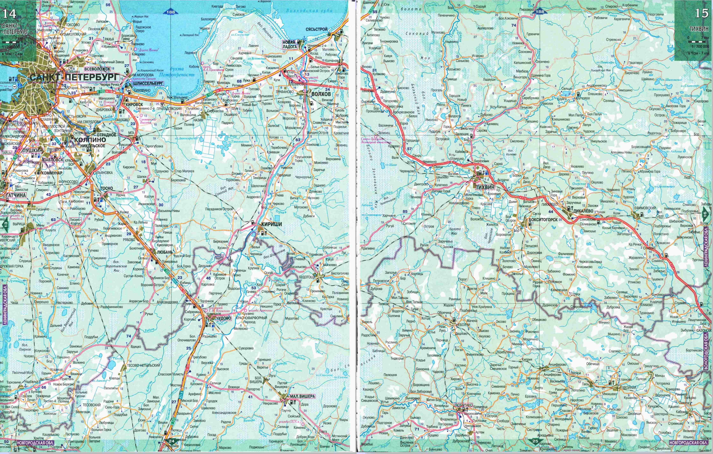 Карты Московской области  Подробная карта Московской