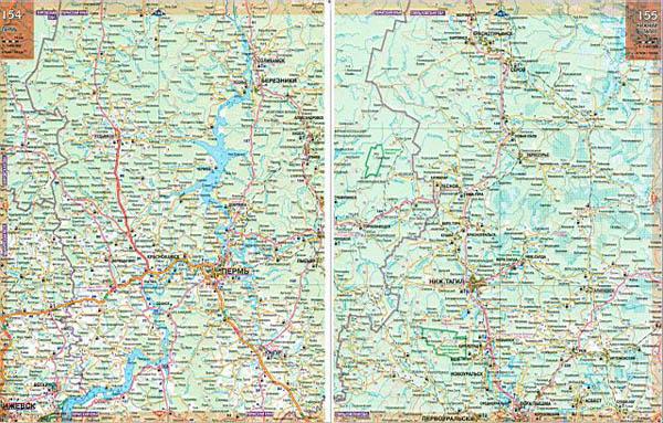 Атлас автодорог России — карта