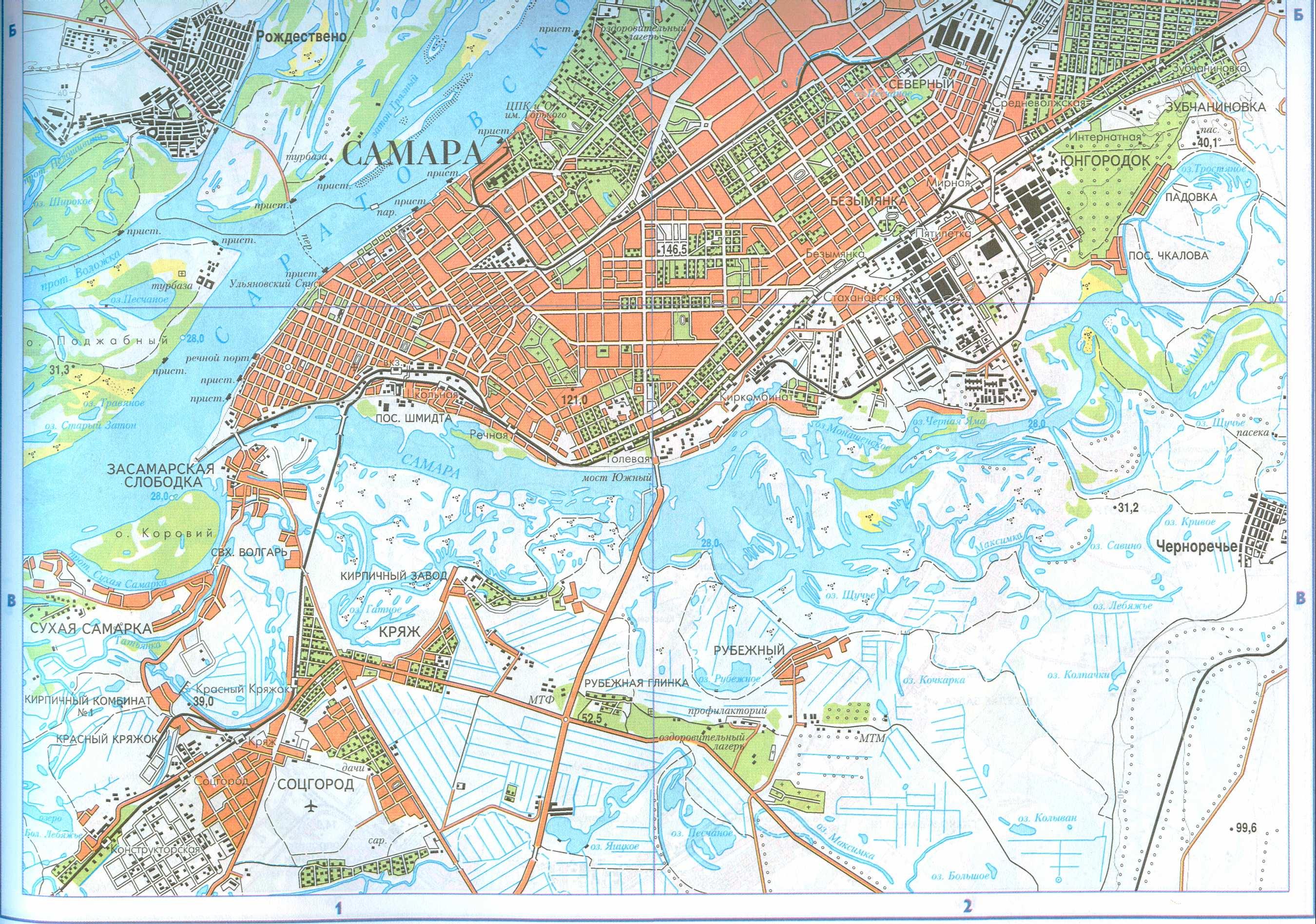 Карта Самары и пригорода. Подробная карта г.Самара и ...: http://raster-maps.com/?p=661