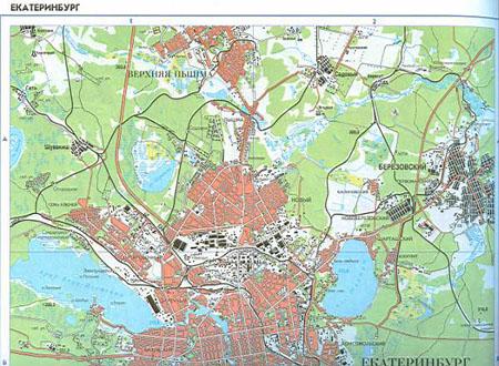Карта города екатеринбурга подробная