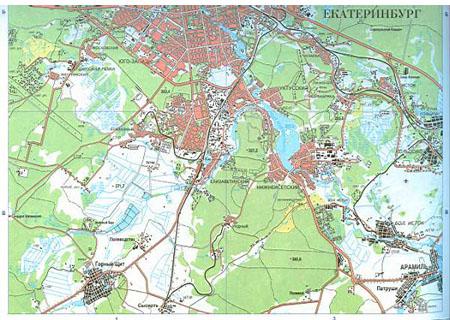 Карта г екатеринбург и окрестностей