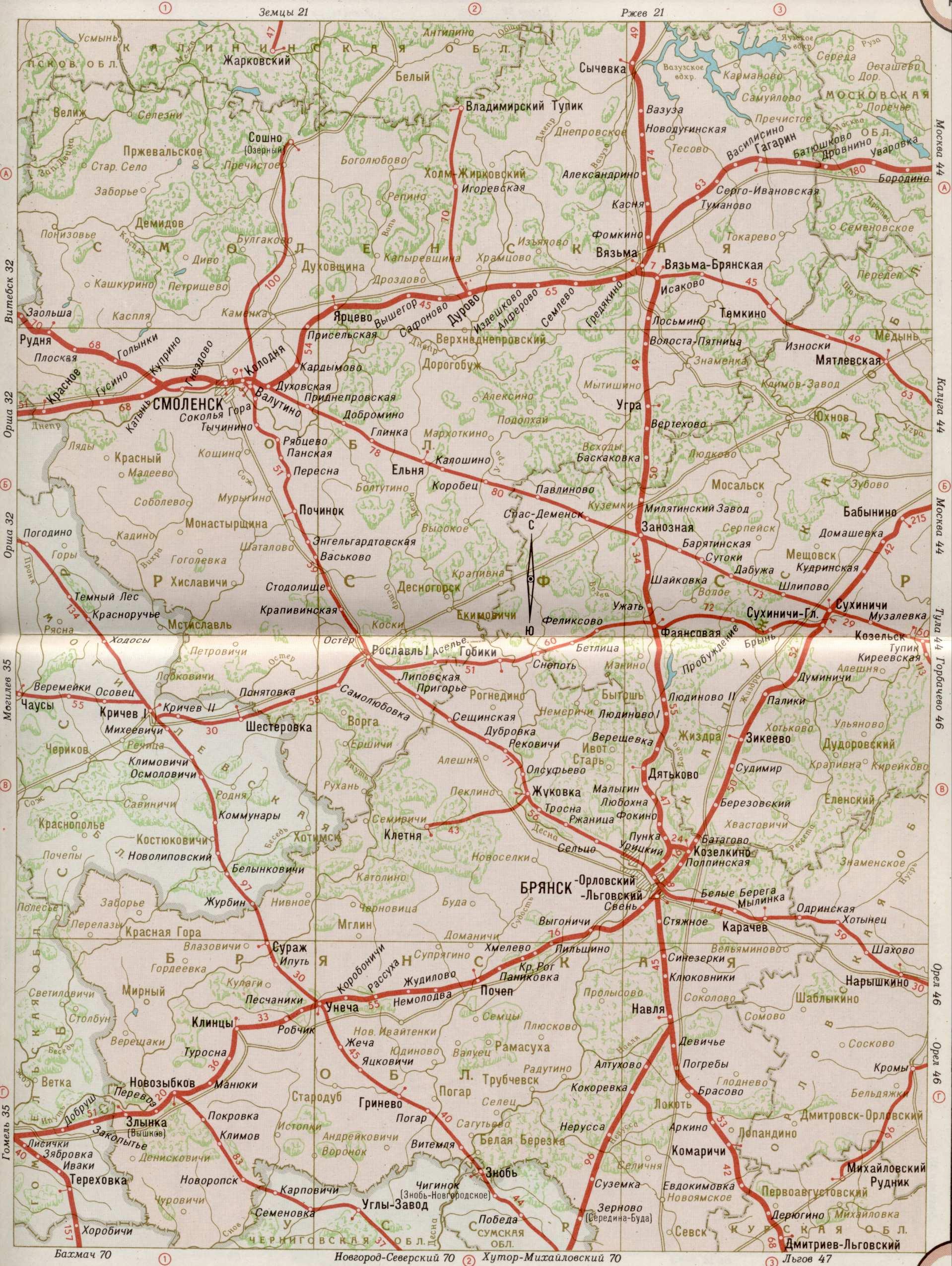 Представляем вашему вниманию карту железных дорог России, стран СНГ и Балтии.  На карте показаны все известные автору...