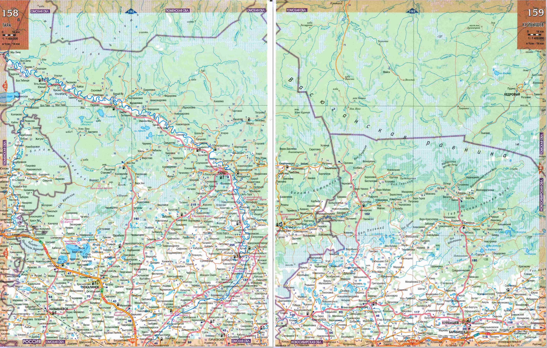 Географические карты томской области