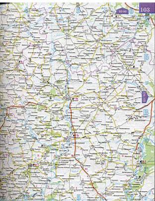 Карта Тульской области 1см