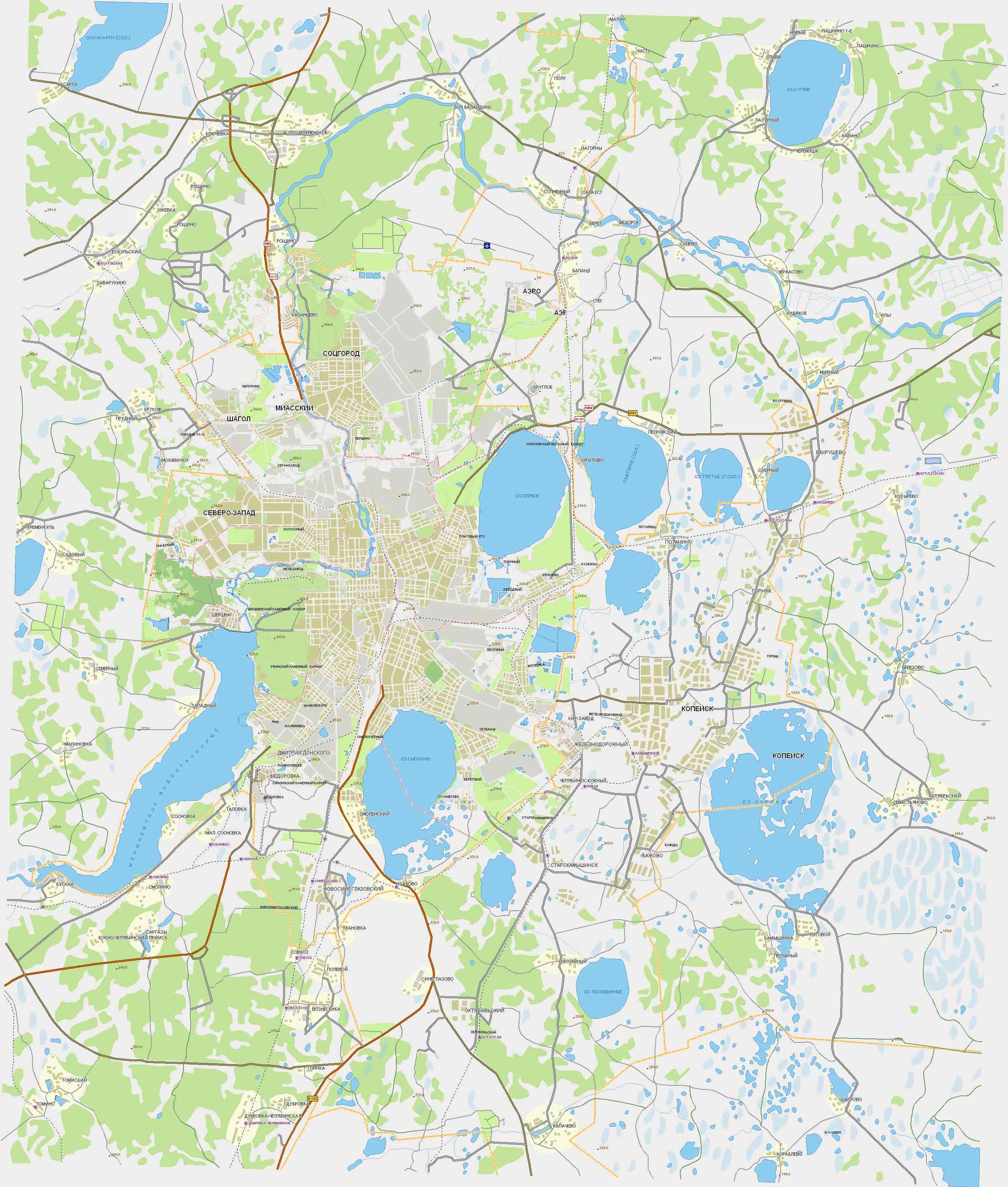 схема районов владивостока карта