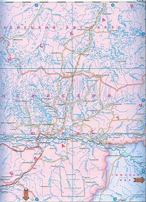 Карта автодорог Ямало-Ненецкого автономного округа. Карта ...: http://www.raster-maps.com/map-of-russia-471/