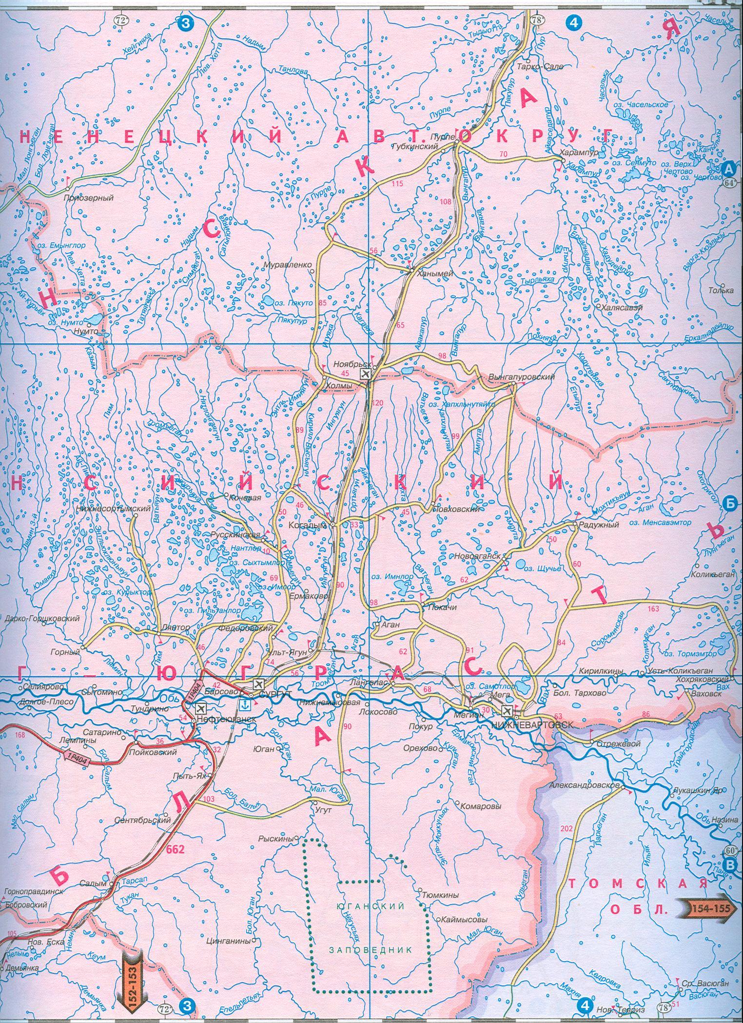 Карта Ямало-Ненецкого АО — Planetolog ru