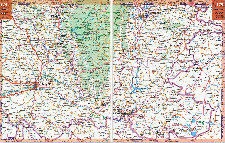Карта автомобильных дорог Алтая и Республики Алтай