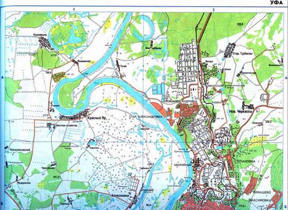 Карта города уфа большая подробная