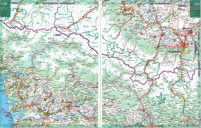 Karta Kabardino Balkarii I Gruzii Karta Dorog Kabardino Balkarskoj