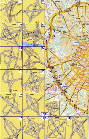 МКАД схема карта развязка