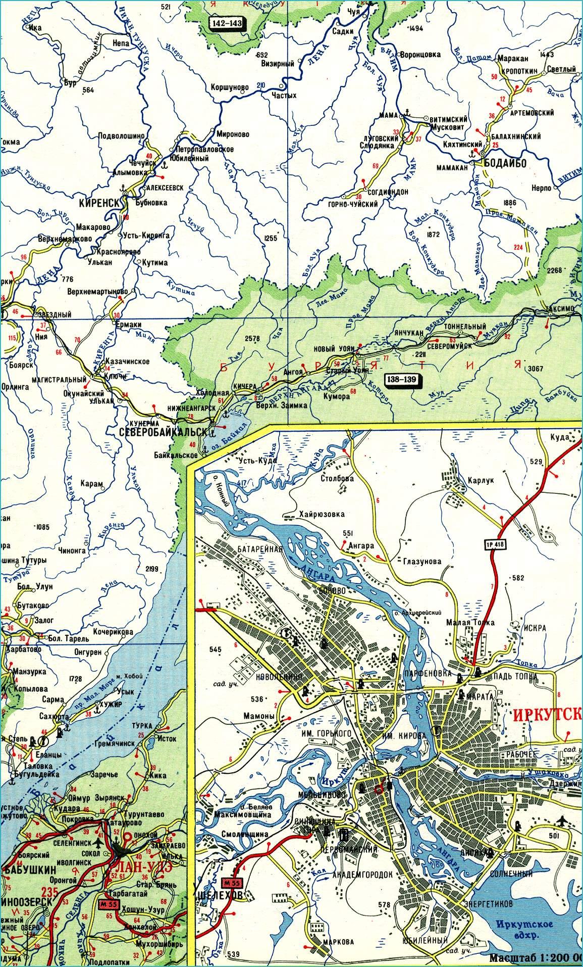 Топографические Карты Иркутская Область