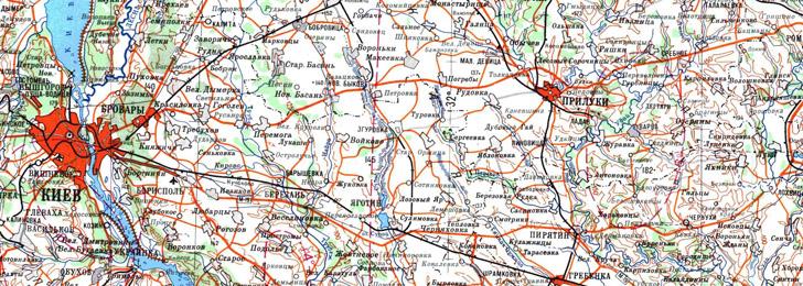 Топографические карты Украины