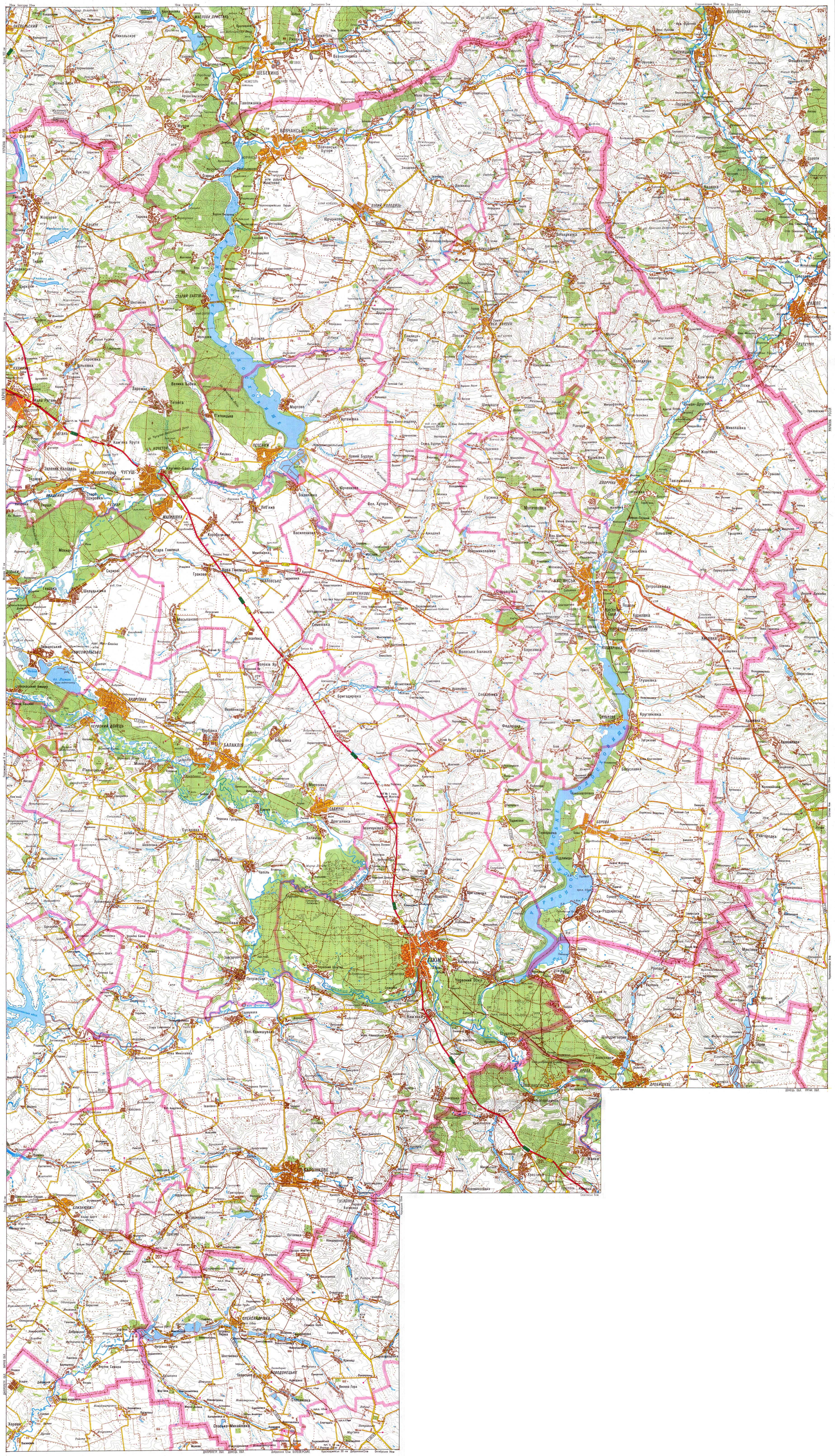 Харьковская Область Карта Автодорог