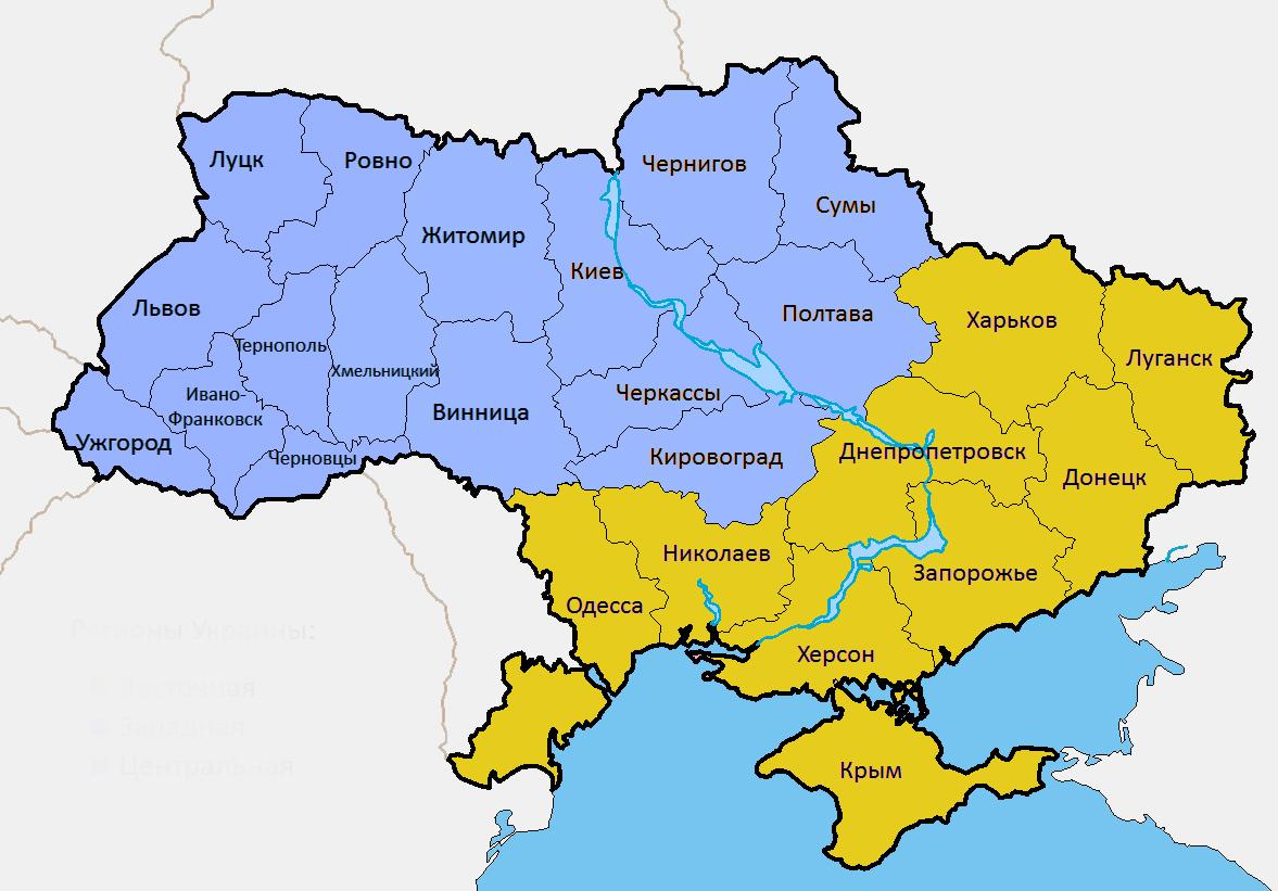 карта украина фото