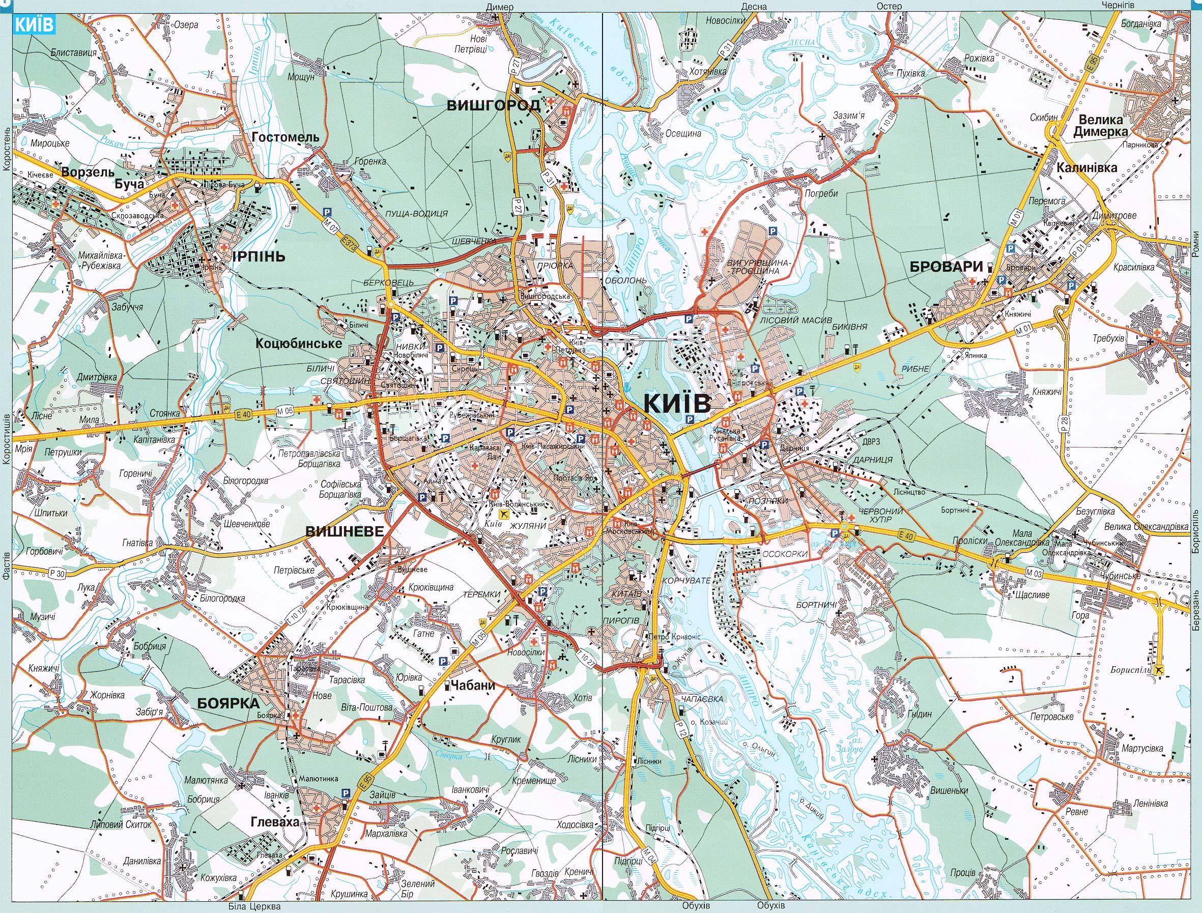 Киев карта киева карта автомобильных