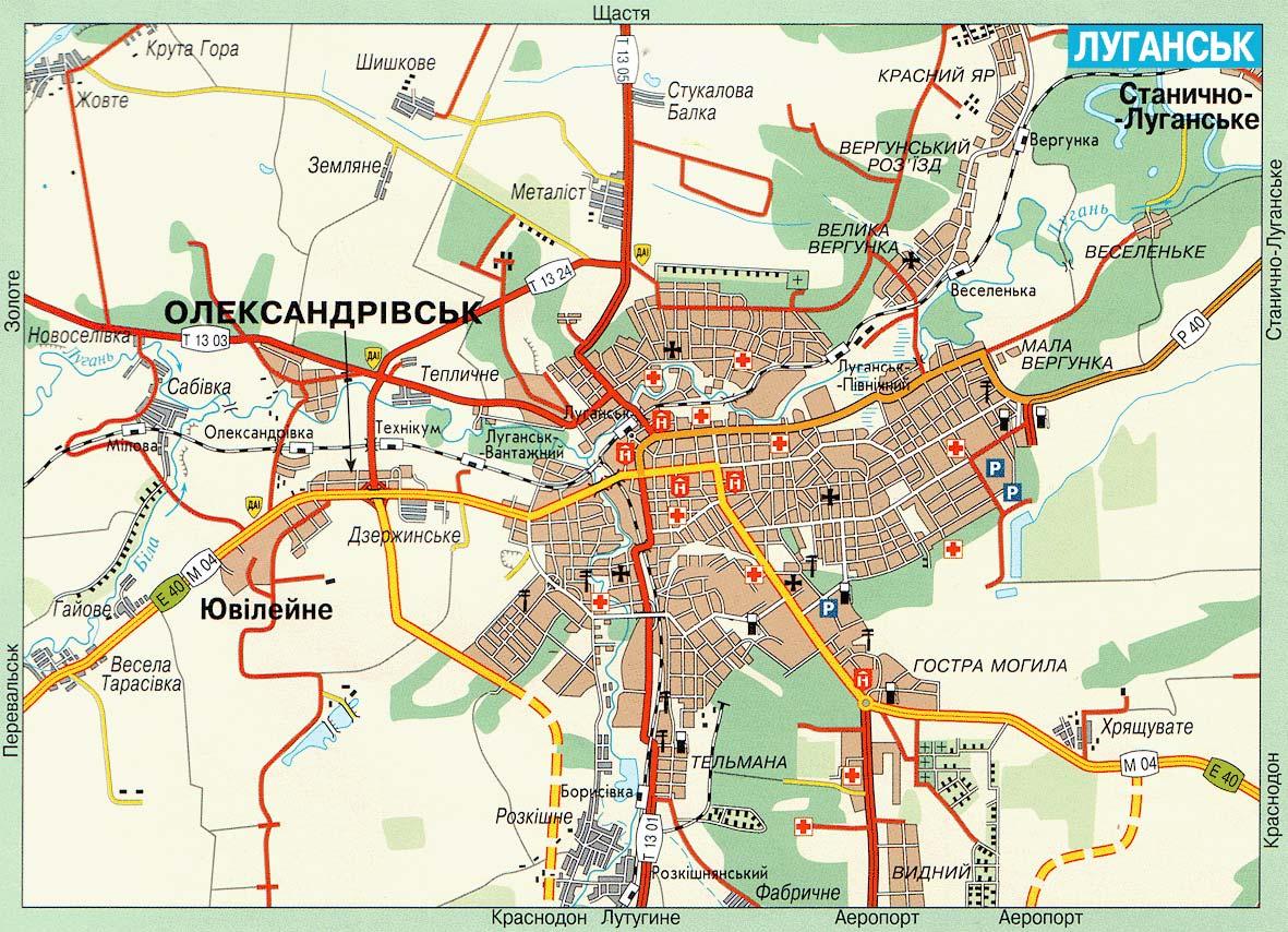Луганск карта луганска карта