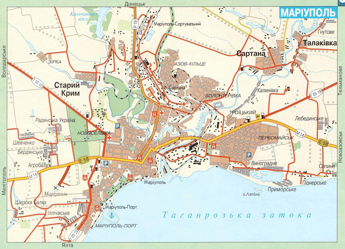 Мариуполь карта мариуполя карта